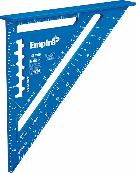 "e2994 7"" TRUE BLUE® Laser Etched Rafter Square"